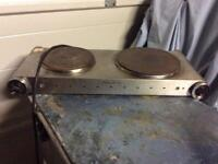 2 ring electric cooking hob £10