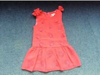 Rocha Little Rocha coral coloured dress 12-18 months perfect condition