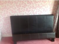 Double bed.faux brown leather.can deliver