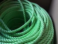 10mm Bright Green Marine Multifilment Polypropylene Rope - NEW - sold per metre