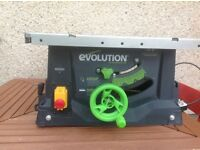 Evolution table saw model fury 5-s