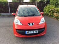 PEUGEOT 107 URBAN 5door hatchback.CHEAP INSURANCE/ROAD TAX.M.O.T.6/5/19.EXCELLENT CONDITION.