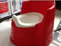 Ergonomic Baby Bjorn potty chair, red, excellent condition