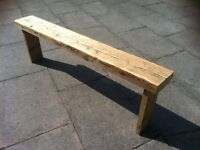 garden/hall bench rustic reclaimed aprox very heavy- reclaimed wood different sizes availible