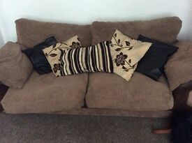 3 seater cord comfy sofa
