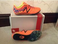 New Balance middle distance running spikes, UK size 8