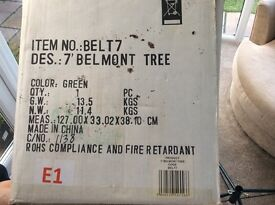 "Artificial Xmas Tree (7 ft) Black Box ""Belmont"" model"
