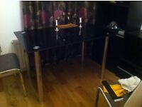 Glass black dinning table no chairs