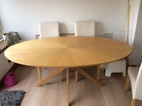 Free to good home excellent oval oak dining table.