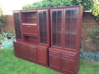 Two Mahogany Wall Units
