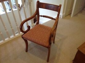 Yew carver dining chair
