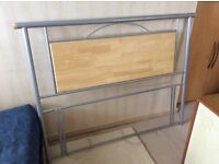 Double Headboard - Silver and Wood