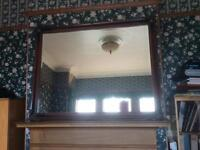 Traditional wooden mirror