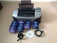 Epson r300 photo printer with ink cartridges (Needs Slight Attention)