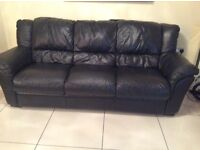 Black 3 1 1 with recliner