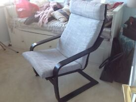 IKEA lounge chair with footstool