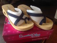 Size 6 , ladies sketcher denim sandals . Worn once . REDUCED