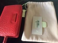 Radley Red Leather Abbey Purse Wallet New With Tags