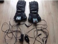 GERBING T5 HYBRID HEATED MOTORCYCLE GLOVES / GAUNTLETS-MINT CONDITION