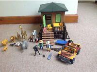 Playmobil Safari set- with animals and figures.