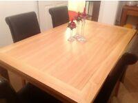 Light Oak Dining Room Table - New Interested ring 01875 704133