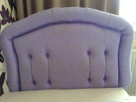 Single headboard lilac damask