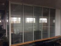 Glazed office partitions CW integrated Blinds