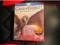 Blu-Ray Box Set, Game of Thrones, Complete Seasons 1 to 6. New, Sealed.