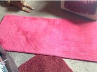 IKEA large dark pink rug