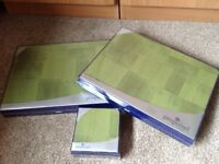 Pimpernel Place Mats and Coasters - Cube Moss Green - New