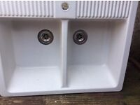 For sale double ceramic sink...used but still in good condition..