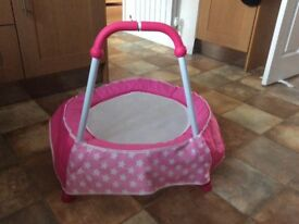 Indoor toddler trampoline (pink) in good condition