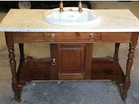 Marble top vanity unit