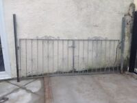 Galvanised drive gates
