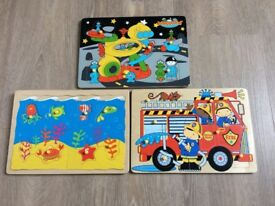 Jigsaw Bundle (Three complete wooden jigsaws)