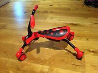 Scramblebug Ride-on Mookie Red/black