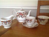 Colclough bone china 22 piece tea service