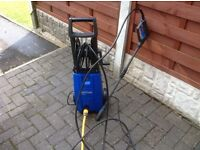 Nilfisk pressure washer with patio attachment