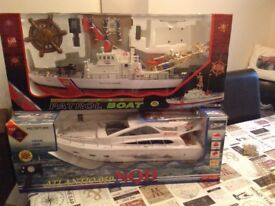 2 Radio control boats have never been out the box.