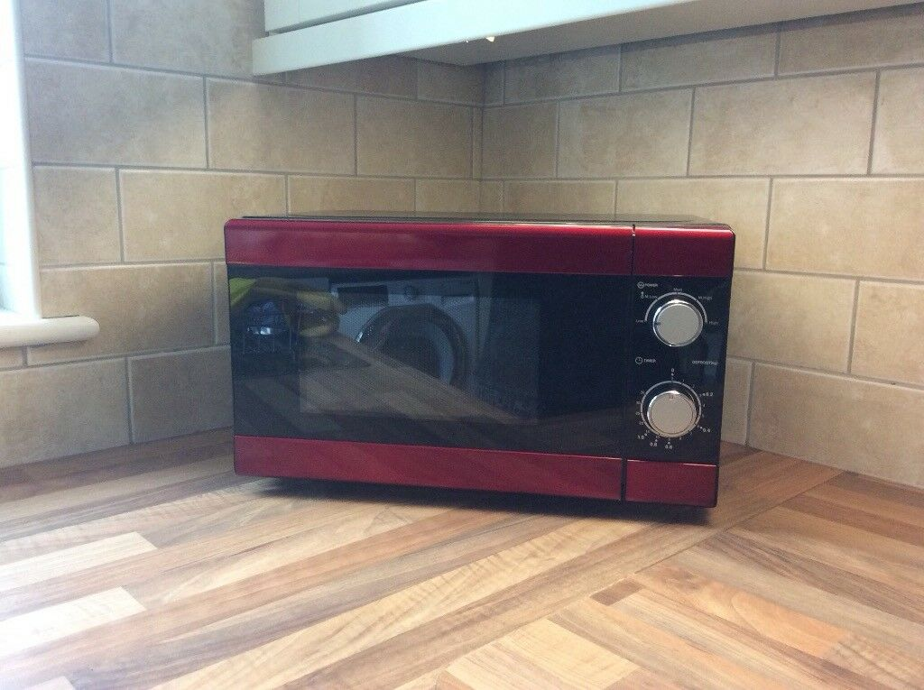 Red and Black Microwave