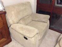 NOW SOLD 3 seater recliner sofa + 1 armchair recliner excellent condition