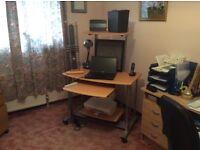 Home office desk unit