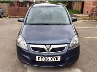 2006 Vauxhall Zafira 1.6 Low Miles Full MOT. Drives Superb. 7 Seater MPV