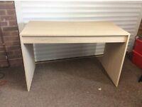 Home office desk light oak veneer