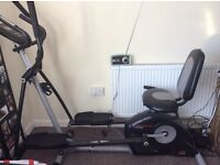 Pro form hybrid cross trainer and exercise bike all in one selling cheap for quick sale