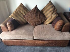 Sofa, ex Barker and Stonehouse. Bargain, £70