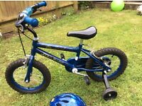 Boy's Star Wars bike with helmet and stabilisers