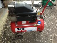 Clarke Rebel 30 Air compresser and Air Tools