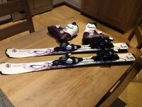 Kids skis and Atomic boots, good condition 20-20.5 boots and 101m skis