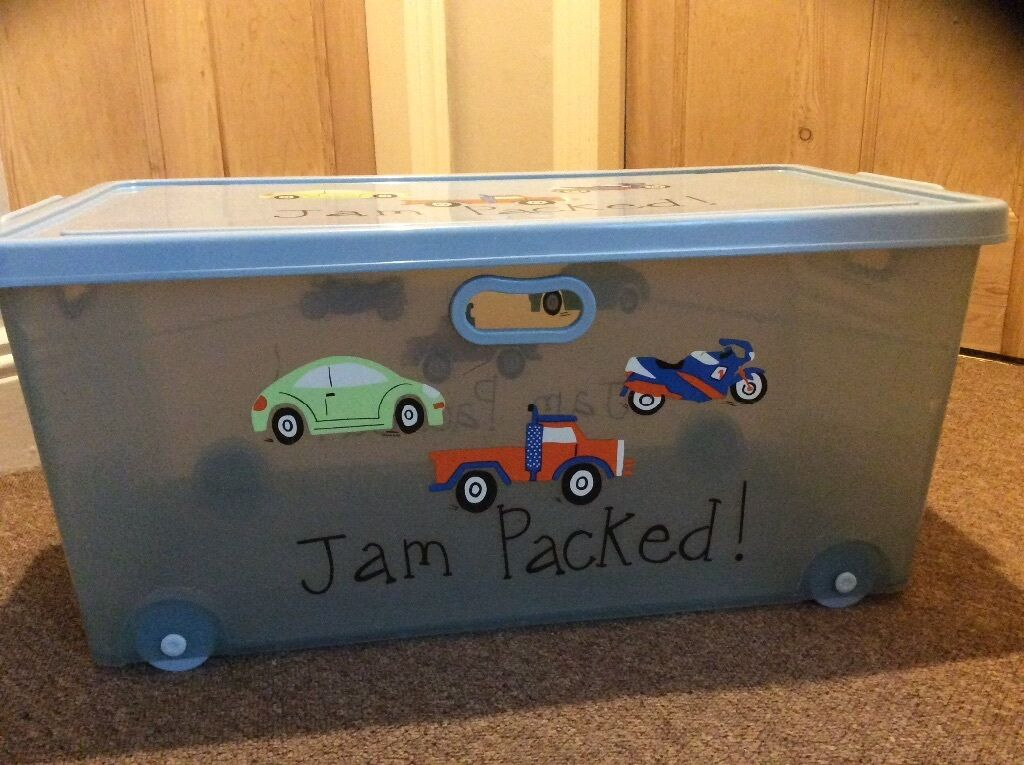 large plastic toy box on wheels from next in darlington county durham gumtree. Black Bedroom Furniture Sets. Home Design Ideas